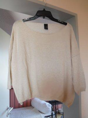 Pull beige clair coton