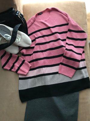 Oversized Pulli Pullover von Gerry Weber 38/40 Rose grau schwarz Outfit
