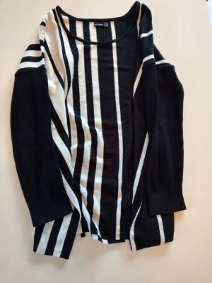 Bodyflirt Oversized trui wit-zwart