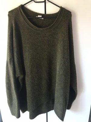 H&M Oversized trui olijfgroen-khaki