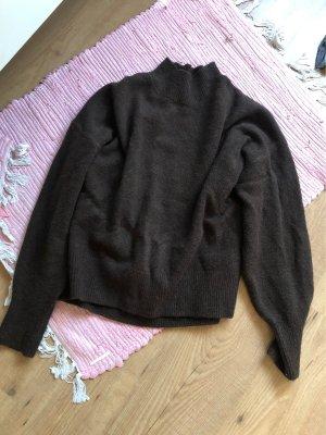 H&M Oversized trui donkerbruin