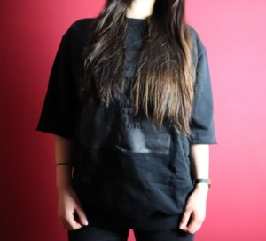 Pull oversize noir-gris anthracite