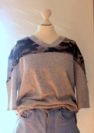 Oversized Pullover - Camouflage S