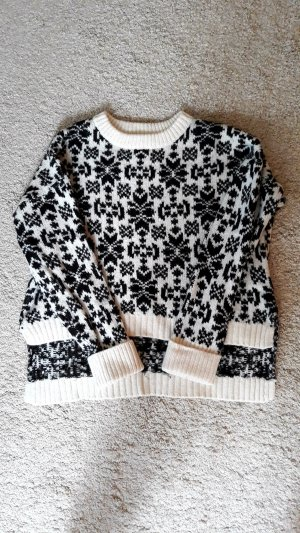 Oversized Pullover H&M Norweger Muster Gr.XS