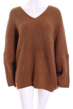 Oversized Pullover hellbraun minimalistischer Stil