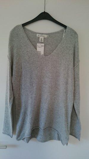 Oversized Pullover hellgrau