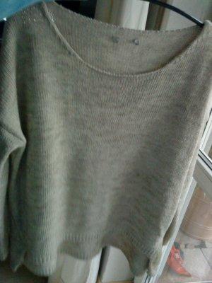 oversized Pullover in beige 38 von Please Italy