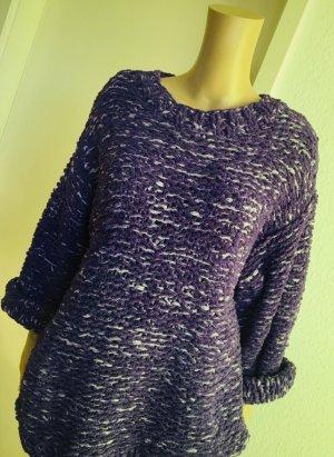 H&M Pull oversize blanc-violet