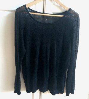 Oversized Pullover mit Lochmuster