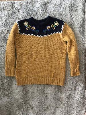 Oversized Pullover mit Stickerei von Zara