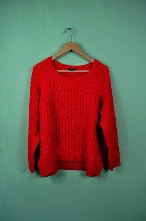 Oversized Pullover mit Strickmuster
