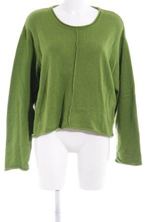 "Oversized Pullover ""NUAP"" grasgrün"