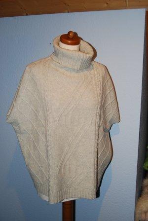 Oversized Pullover Pullunder mit Rollkragen v. Marie Lund in creme mit hellgrau