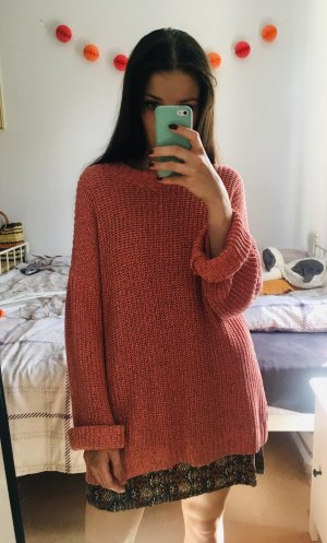 H&M Oversized Sweater salmon-bright red