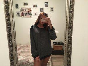 Oversized Pullover schwarz/grau