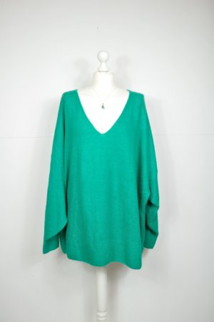 Oversized Pullover / Strickkleid in Smaragd