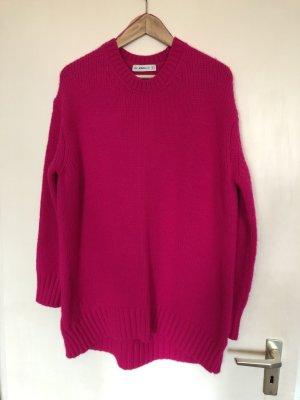 Oversized Pullover strickkleid Pink M ZARA