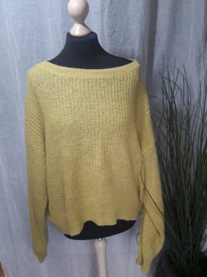 Oversized Pullover Strickpullover  Rundhalspullover