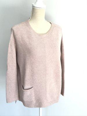 V Milano Pull oversize rosé tissu mixte