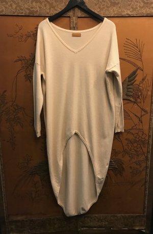 Long Sweater natural white viscose