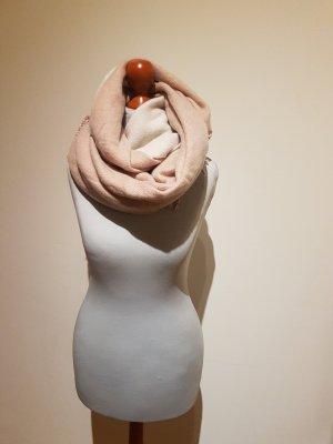 Oversized Schal in Altrosa und Creme
