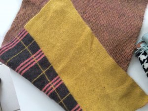 H&M Woolen Scarf multicolored mohair