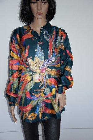 Blusa taglie forti multicolore Seta