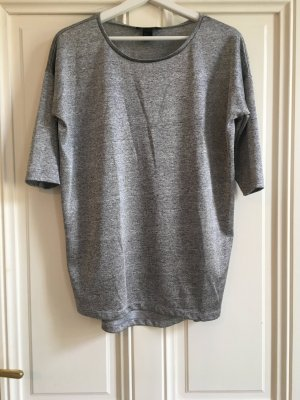 H&M Oversized Shirt silver-colored-grey