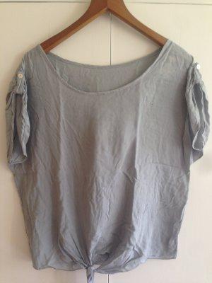 Oversized shirt lichtgrijs-azuur Viscose