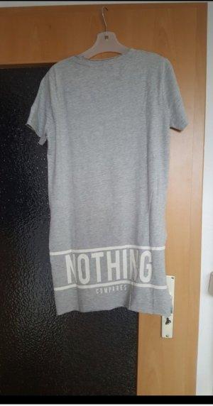 Only Oversized shirt wit-lichtgrijs