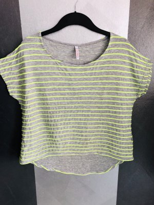 FB Sister Top extra-large gris clair-vert fluo