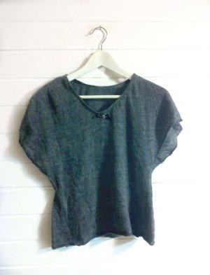 oversized Shirt grau Boho Blogger Strickshirt