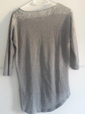 oversized Shirt grau Spitze