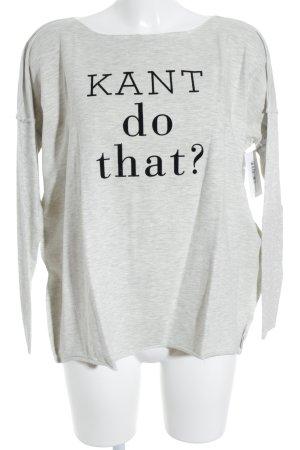 Oversized Shirt light grey-black flecked athletic style