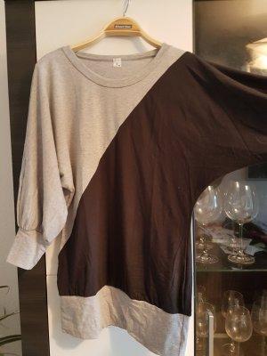 Oversized-Shirt in Hellgrau-Anthrazit