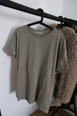 Pull & Bear Oversized Shirt green grey