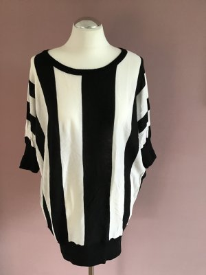 Izzue Oversized shirt wit-zwart