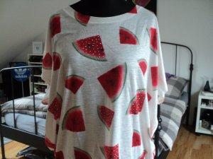 Oversized Shirt mit Melonen AOP