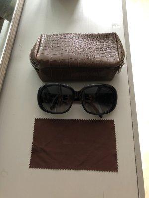 Oversized Sonnenbrille mit Strass Emblem MK