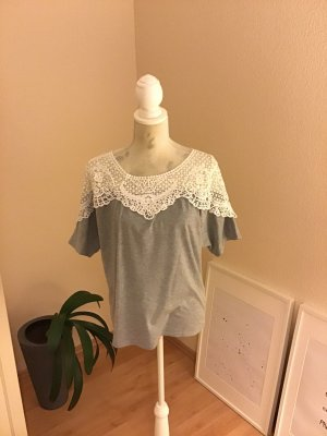 Off the shoulder top veelkleurig