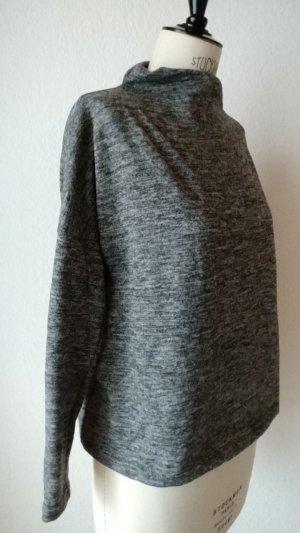 Oversized Stehkragen Pullover