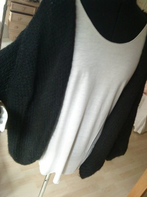 Oversized Strickcardigan schwarz made in italy M