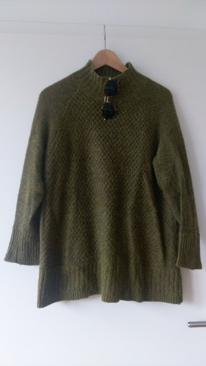 H&M Oversized Sweater green grey-olive green