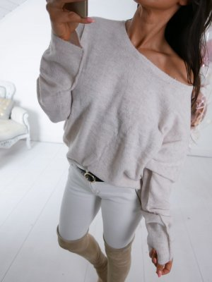 Oversized Sweater oatmeal-natural white