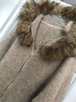 Oversized Stylische Jacke mit fellkaputze