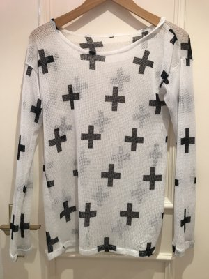 oversized Sweater mit Kreuzen