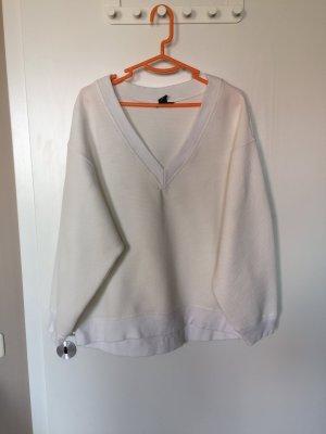 Oversized Sweater weiß
