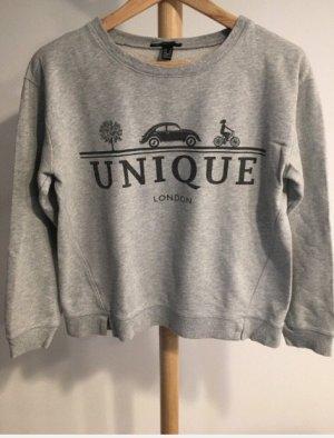 Oversized sweatshirt mit Druck