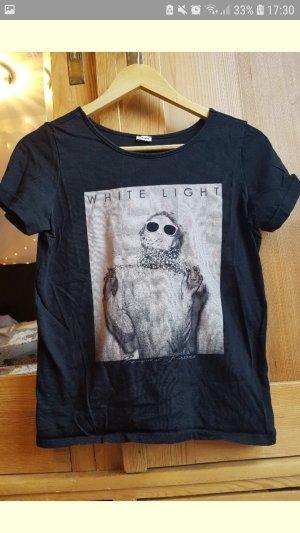 Pimkie Camiseta negro-beige claro