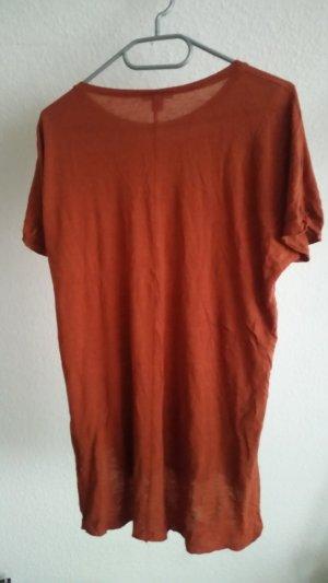 Amisu T-shirt roodbruin